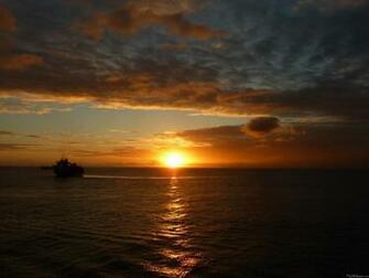 mlewallpapers com sunset at sea iv caribbean sunset at sea