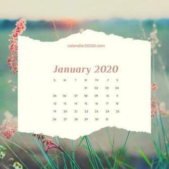 2020 Floral Printable Calendar Calendar 2020