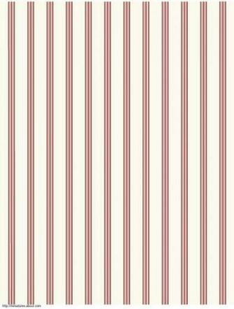 printable dolls house wallpaper striped red on cream coordinates