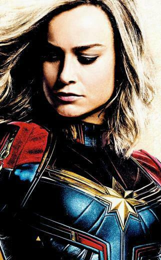 Download 950x1534 wallpaper movie captain marvel artwork brie