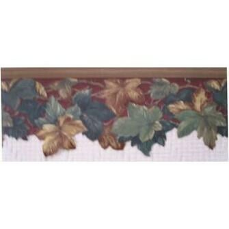 Brown Scalloped Wallpaper Border