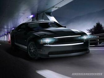 Mustang Night Cruiser Desktop Background Wallpaper Parts for Mustang