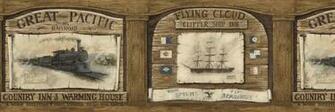Railroad Trains Clipper SHIP Wallpaper Border AW77358 eBay