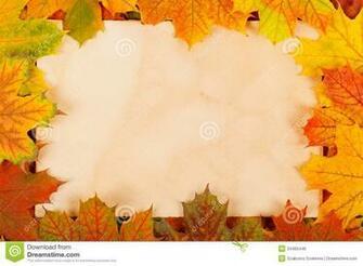 Fall Paper Borders Autumn leaves as border
