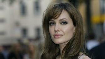 Angelina Jolie actress angelina jolie brunette face girl gray