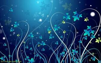 Download pretty blue vines Wallpaper