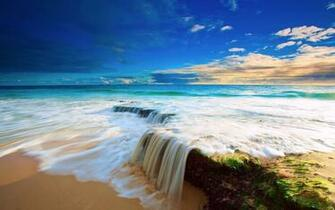 Beach Ocean Waves Water Favim Com HD dekstop wallpapers   Beach Ocean
