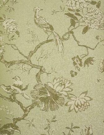 Oriental Bird Wallpaper Beautiful bird and branch design wallpaper in