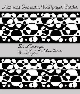 Black White Wallpaper Borders Geometric Wallpaper Bedroom Ideas