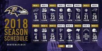 OFFICIAL Ravens 2018 2019 season schedule ravens