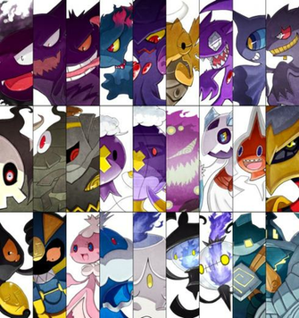 Ghost Pokemon Battle Cuts by Amastroph