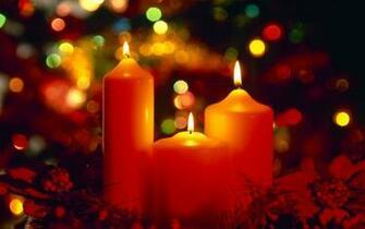 Beautiful Christmas Candles computer desktop wallpaper