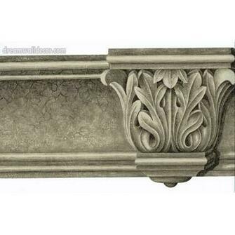 KITCHEN Architectural Molding Wallpaper Border