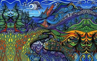 Download Psychedelic Landscape Wallpaper 1280x800