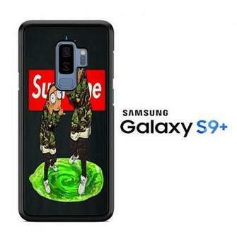 Rick and Morty Supreme wallpaper Samsung Galaxy S9 Plus Case