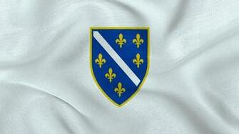 Republic of Bosnia and Herzegovina Flag Wallpaper by Edinev on