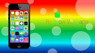 Ios 7 Style Rainbow Wallpaper Desktop Background