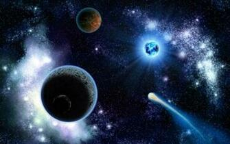 Space Planets And Comets   Wallpaper 9985