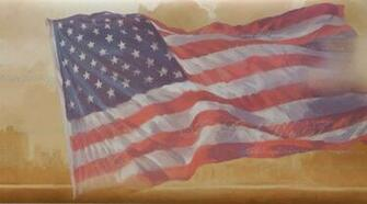 AMERICAN FLAG WALLPAPER BORDER