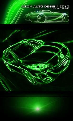 View bigger   Neon Car Green Live Wallpaper for Android screenshot