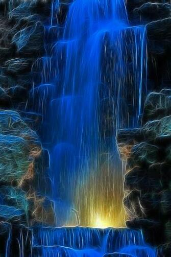 Blue Waterfall 640x960 Screensaver Wallpaper Pictures