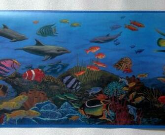 Under The Sea with Fish and Sea Creatures Wallpaper Border CK10143B