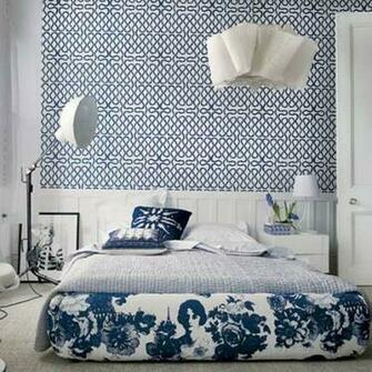 15 Captivating Bedrooms with Geometric Wallpaper Ideas Rilane   We