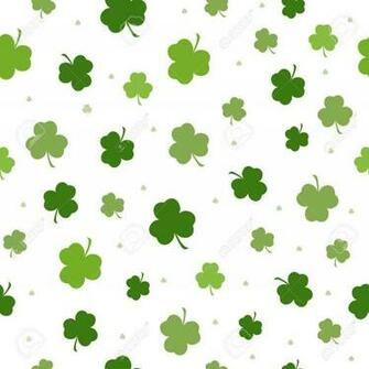 Set Of St Patricks Day Seamless Patterns With Polka Dot Argyle