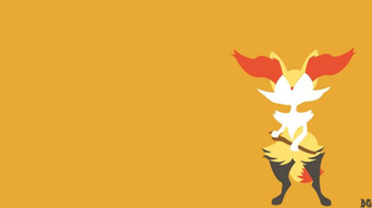 Braixen Minimalistic Wallpaper by DGenr