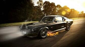 Ford mustang shelby Gt350carsmokeoldsuper carsfire sparkracing