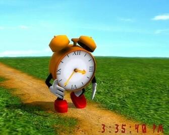 Running Clock 3D Funny Screensaver And Wallpaper Hd cute Wallpapers