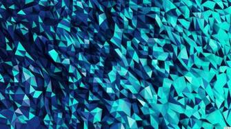 HD Blue Polygons Wallpaper