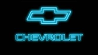 Blue Chevy Neon Logo wallpaper   ForWallpapercom