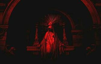 Wallpaper Red Black 2560x1600 Statue Eye Pyramid Illuminatti