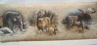 Moose Bear Deer Wallpaper Border