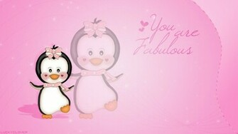 Wallpaper Cute Penguin by LauraClover