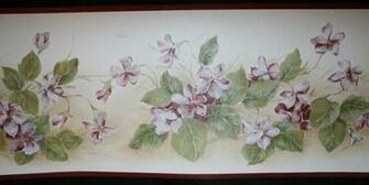 Wallpaper Border New Gorgeous Wine Burgundy Floral Vine eBay