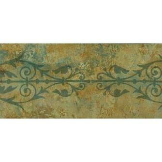Green Brown Floral Grill Wallpaper Border