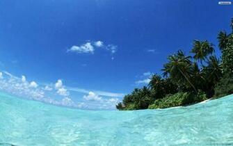 beach scenic clean borders desktop wallpaper   ForWallpapercom