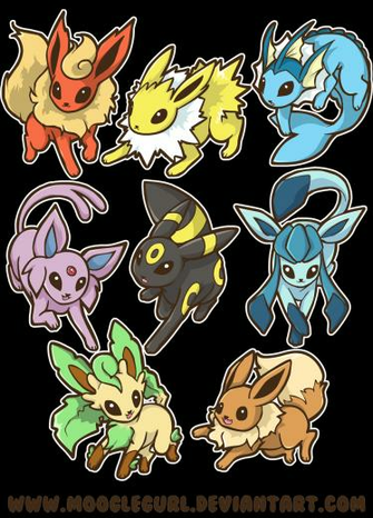 Cute Eevee Evolutions Wallpaper Eevee evolutions by mooglegurl