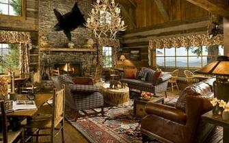 Download Mountain cabin in the USA wallpaper