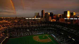 baseball stadium wallpaper denver rainbow goodwp sports images