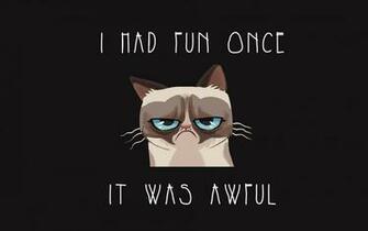 Funny Grumpy Cat Quotes HD Wallpaper for Desktop
