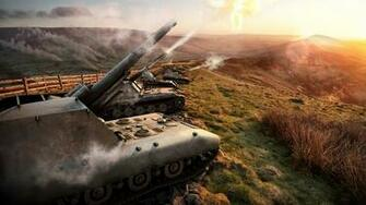 Images World of Tanks SPG Firing 3D Graphics Games 1920x1080
