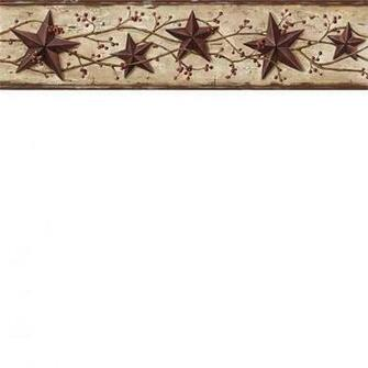 Brown Heritage Tin Star Wallpaper Border