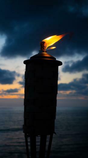Torch Fire Wick Night Wallpaper   [2160x3840]