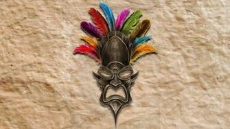 Digital Art Feathers Animals Horns wallpaper Gallery