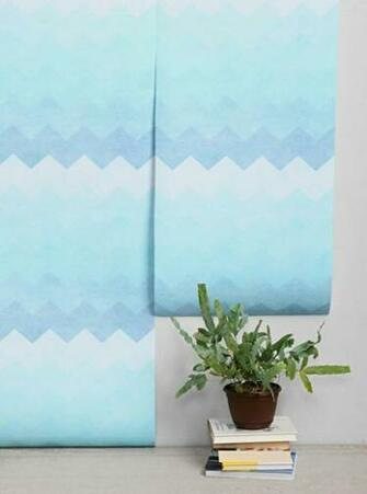 Blue Chevron Removable Wallpaper   Everything TurquoiseEverything