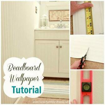 Beadboard Wallpaper Tutorial   Love of Family Home