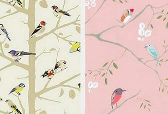Summer wallpaper from Schumacher Bird wallpaper via Jolly Bureau